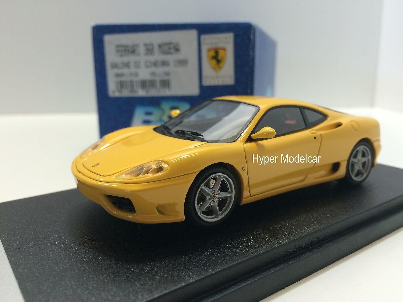 BBR Model 1 43 Ferrari 360 Modena Salone Di Ginevra 1999 Yellow Art. BBR131B