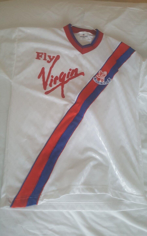Raro Vintage Original De Cristal Palace volar Virgen Camiseta de fútbol 1990 1991 3rd