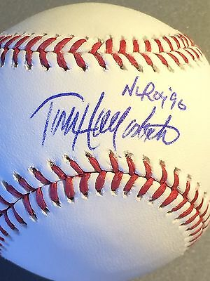 Todd Hollandsworth Los Angeles Dodgers Nl Roy 96 Signed Oml Baseball High Standard In Quality And Hygiene Baseball-mlb