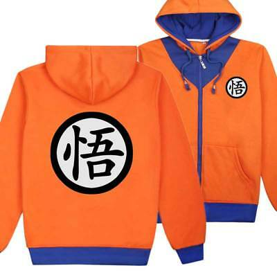 Anime DragonBall Z Son Goku Hoodie Zipper Sweats Shirt Cosplay Coat Jacket Tops