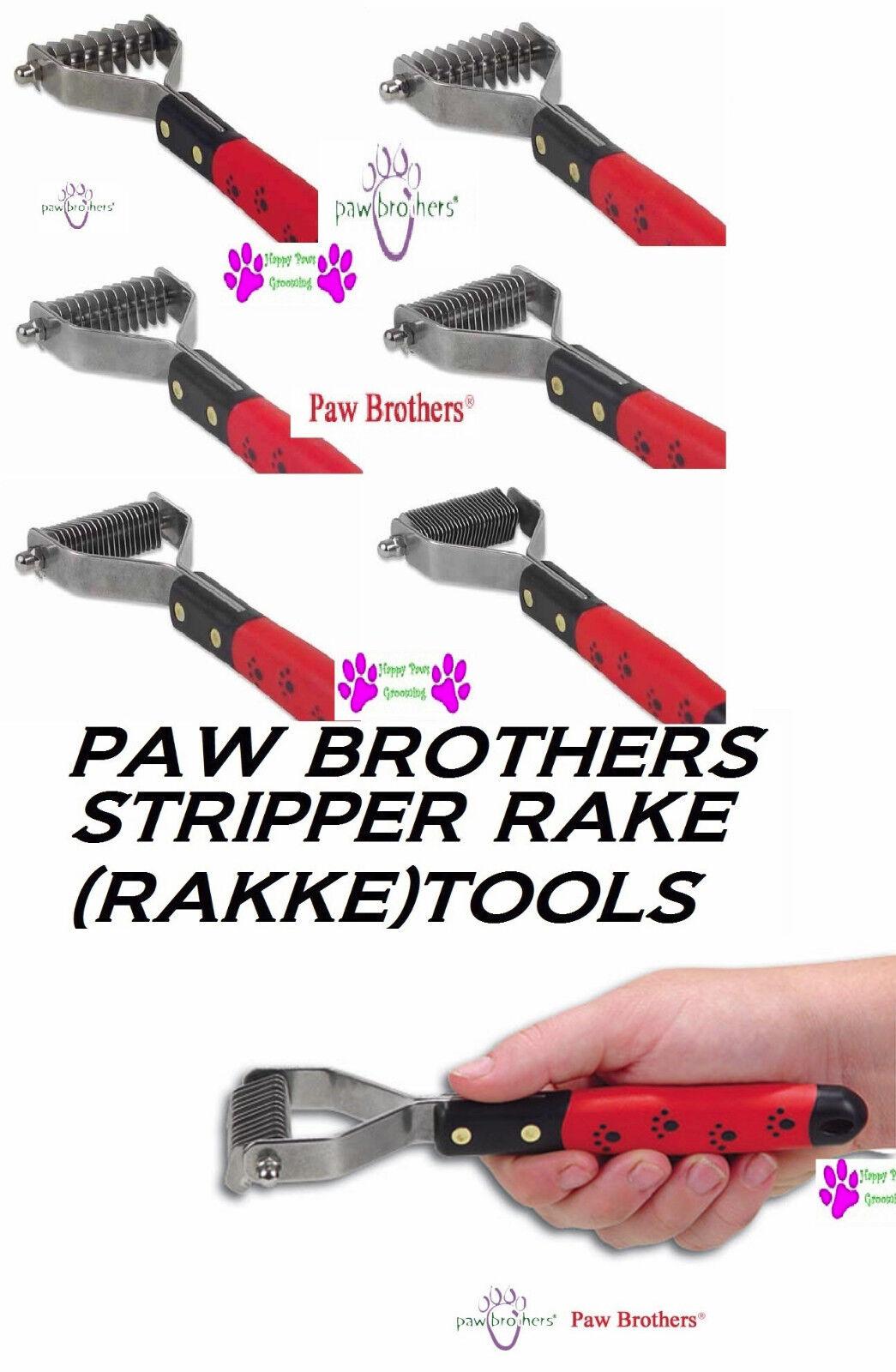 PAW BredHERS Dog Cat Coat Hair Mat Breaker STRIPPER RAKE Rakke Tool GROOMER SET