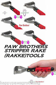 Paw Brothers Dog Cat Coat Hair Mat Breaker Stripper Rake