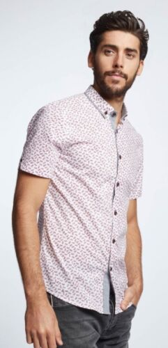 Mish Mash Barbados Red Short Sleeve Shirt £19.99 /'Free Postage/'