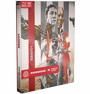 Looper-Blu-ray-Dvd-Steelbook-Mondo-Canada-importacion-exclusiva-Regular-Edition-Nuevo