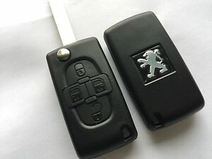Shell-key-plip-remote-peugeot-1007-807-4-buttons-reference-ce0523