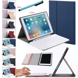 new arrival 6de28 afd51 Details about For Apple iPad 6th Gen 9.7 2018 Bluetooth Keyboard Case Cover  with Pencil Holder