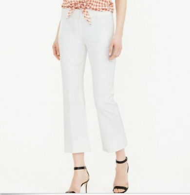 2019 New Style J.crew Teddie Pant-e8366-size 8-white Lovely Luster Clothing, Shoes & Accessories