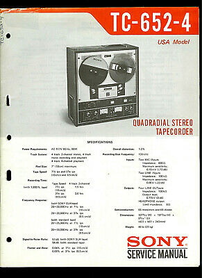 Original Factory Sony TC-260 Reel to Reel Tape Deck Service Manual