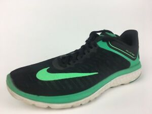 buy popular 316a5 ea99f Details about Nike FS Lite Run 4 Men's Running Shoes, Black/Green, Size 7  852435 007