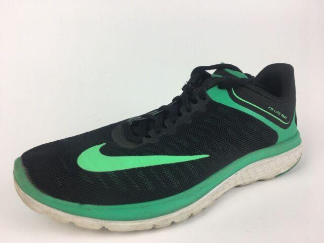 Nike FS Lite Run 4 Men's Running Shoes, BlackGreen, Size 7 852435 007