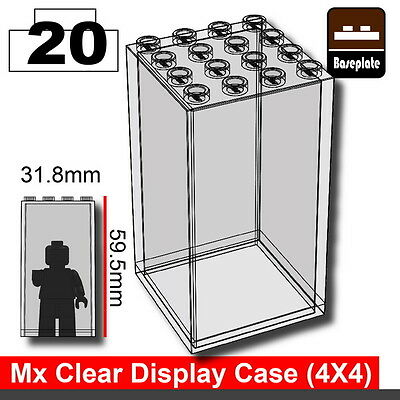compatible with toy brick minifigs W283 Clear Minifigure display case