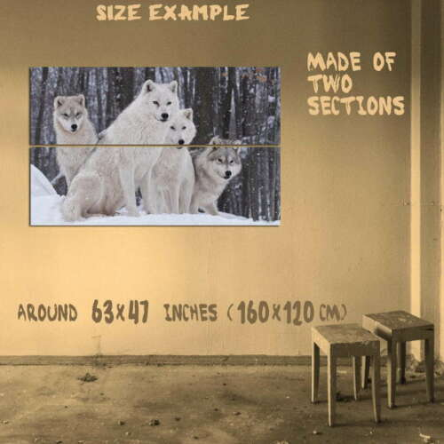 186399 WHITE WOLVES WALL DECOR WOLF PACK SNOW WINTER Decor Wall POSTER Print