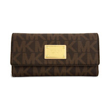 Michael Kors Jet Set Checkbook Wallet in Brown