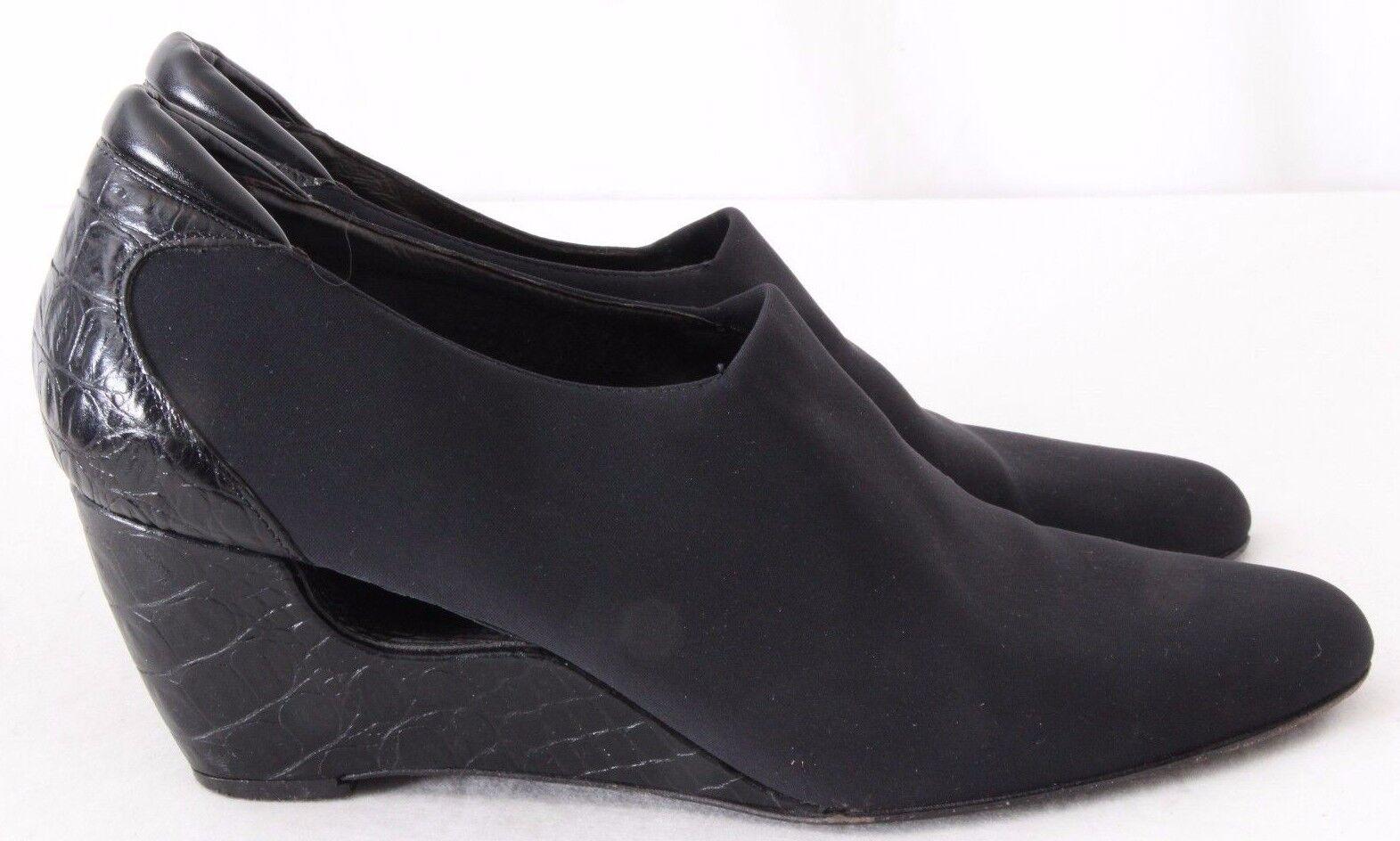 Donald J Pliner Fab2  Croc Print Wedge Heels Booties Women's US 8.5M