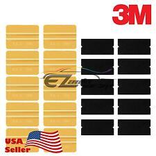 3M Gold Vinyl Wrap Squeegee Applicator Tool x10 Set Felt Edge Decal Tips x10 kit
