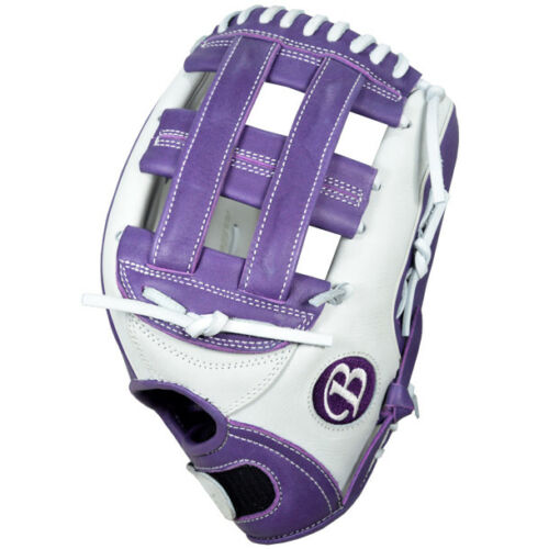 """JCFP1225W 12.25/"""" RHT Youth Fastpitch White//Purple The Champ Buckler Softball"""