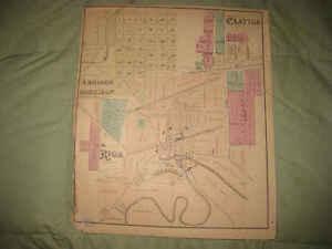 Addison Michigan Map.Antique 1874 Clayton Morenci Riga Deerfield Addison Lenawee County