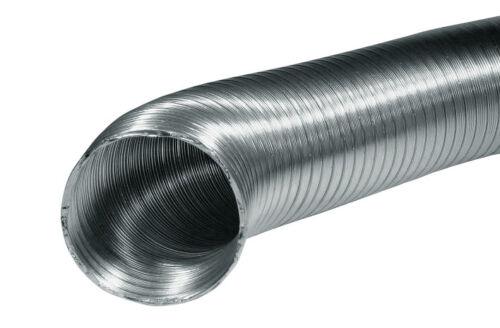 Gaine alu flexible cheminée Diam 130 mm Longeur 1 m extensible jusqu/'à 2,7 m