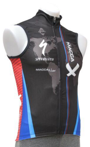 Panache Team Macca Cycling Wind Vest Men XS S M Road Mountain Bike Specialized
