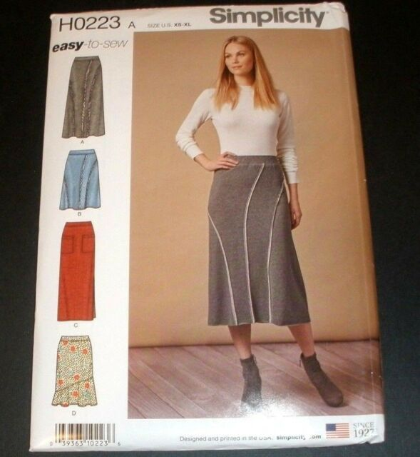 Simplicity Sewing Pattern 8745//H0223 XS-XL Misses/' Easy-to-Sew Knit Skirts