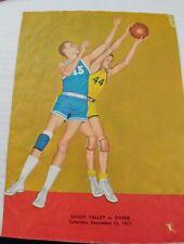 1961 High School Basketball Program Sandy Valley OH vs Dover