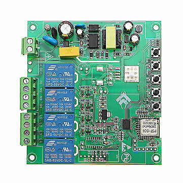 AC 220V 10A Control Smart Switch Point Remote Relay 4 Channel WiFi Module Withou