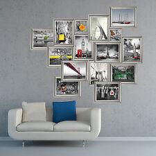 Pegatinas de pared Fotos calcomanía opiniones Decoración Mural Plata marco 160cm X 138cm