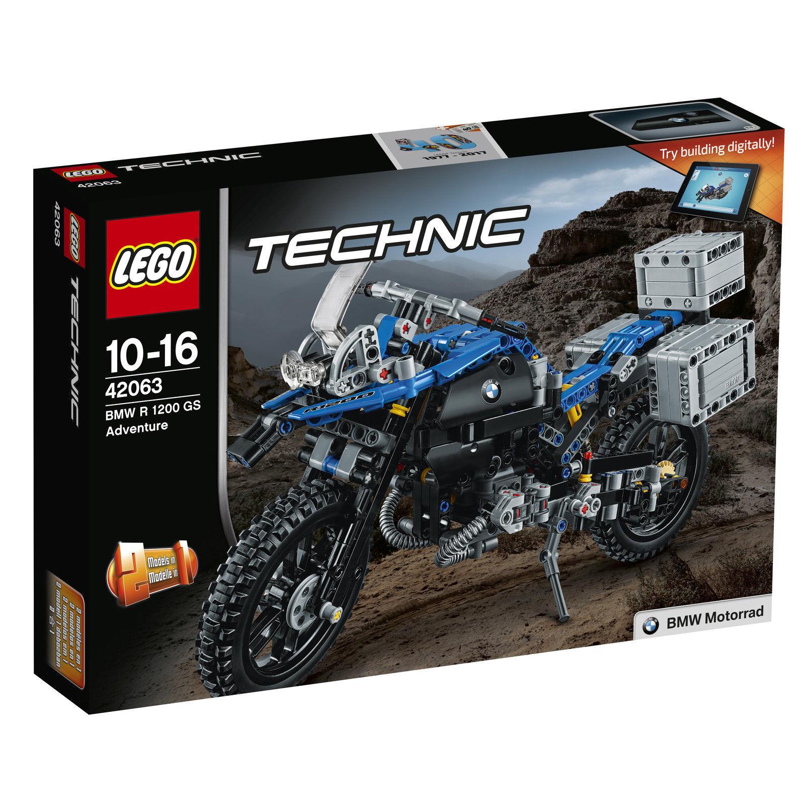 LEGO Technic BMW R 1200 1200 1200 GS Adventure 42063 neu OVP versiegelt unbespielt 25a341
