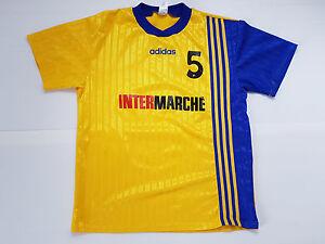 MAILLOT-FOOTBALL-PORTE-WORN-SHIRT-MAGLIA-ANCIEN-VINTAGE-ADIDAS-INTERMARCHE-N-5