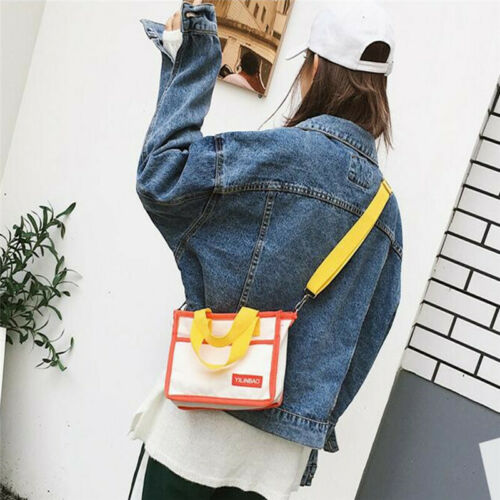 Korean Style Fashion Canvas Handbag Patchwork Bag Girls Crossbody Bag G