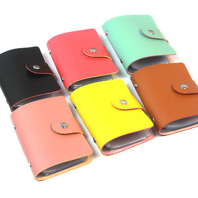 New Pocket PU Leather Business ID Credit Card Holder Case Wallet New UK
