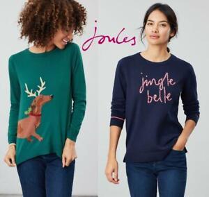 Joules-Festive-Crew-neck-Women-039-s-Christmas-Jumper