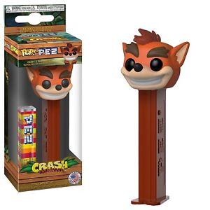 Funko Crash Bandicoot POP PEZ Dispenser NEW Candy Collectibles