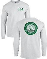 Delta Sigma Phi Fraternity Seal Long Sleeve Shirt -