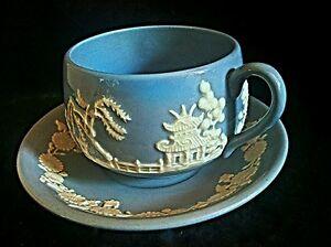 Rare Chinoiserie Oriental Blue Jasper ware dudson Hanley England tea ...