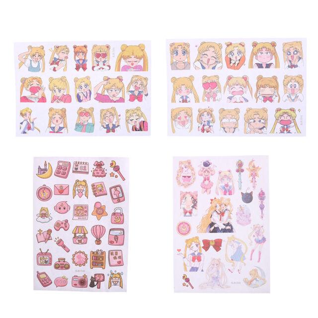 New Sailor Moon Girl Decorative Sticker Set Diary Album Label Sticker Pip LY