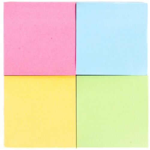 BULK BUY 48Pc COLOURED MEMO BLOCKS Message Sticky Notes Pad School//Home//Office