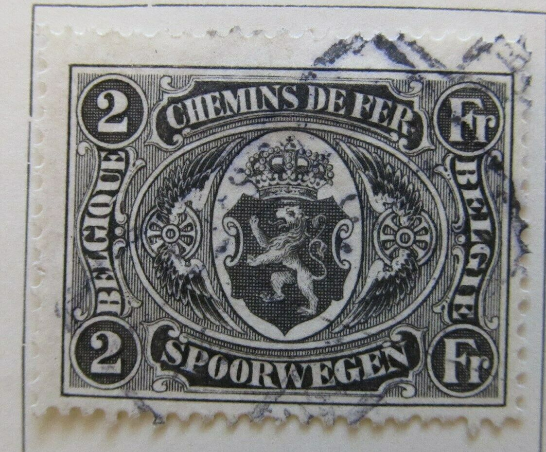 A6P17F110 Belgium Parcel Post and Railway Stamp 1921-22 2fr used