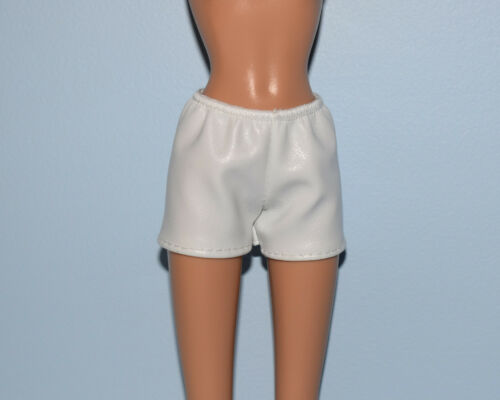 CHIC White Faux Leather Look Shorts Genuine BARBIE Fashion