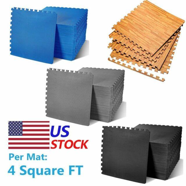 72sq ft Interlocking Eva Foam Floor Mat Puzzle Soft Tiles Gym Exercise Mats Yoga