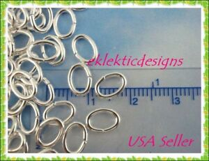 3x4mm 100pcs Antique Copper Oval Jump Rings Jewelry Findings Open Split Earrings