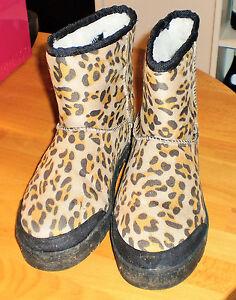 RIIS-amp-COMPANY-Bottines-bottes-d-039-hiver-matelassees-couleur-leopard-taille-38