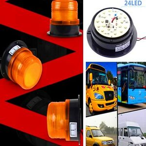 Universal LED Warning Light Amber Flashing Strobe Beacon Emergency Light 12V 24V