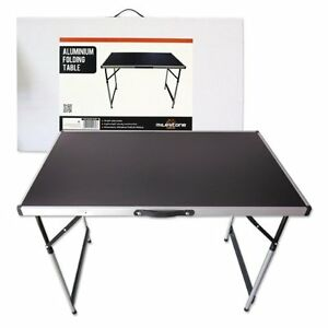 Camping picnic aluminium folding table lightweight - Camping table adjustable height ...