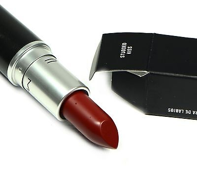 MAC M.A.C MATTE LIPSTICK STUDDED KISS DARK OXBLOOD RED SHADE AUTHENTIC COSMETICS