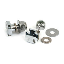 MCS Harley-Davidson Chrome Maltese Cross  Number Plate Screw kit  BC22519 T