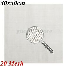 """8/"""" 30 Mesh 2x Catering Classics Stainless Steel Square Skimmer 20cm"""