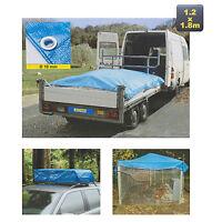 Blue Trailer Tarpaulin 4x6 Ft DIY Cover Waterproof Sheet Ground Heavy Duty Tarp