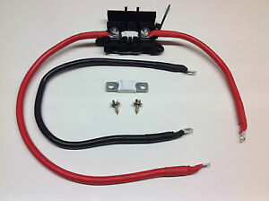 Inverter Fitting Kit 25mm2 170amp Ready Made Leads  (Up to 2000 Watt peak power)