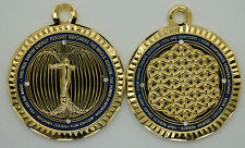 Paul Santisi Energy Pendant Blue Gold With Stones FREE SHIPPING